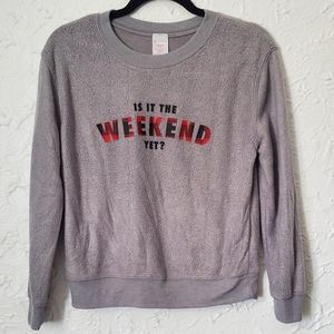 4/$25 No Boundaries Grey Sweater